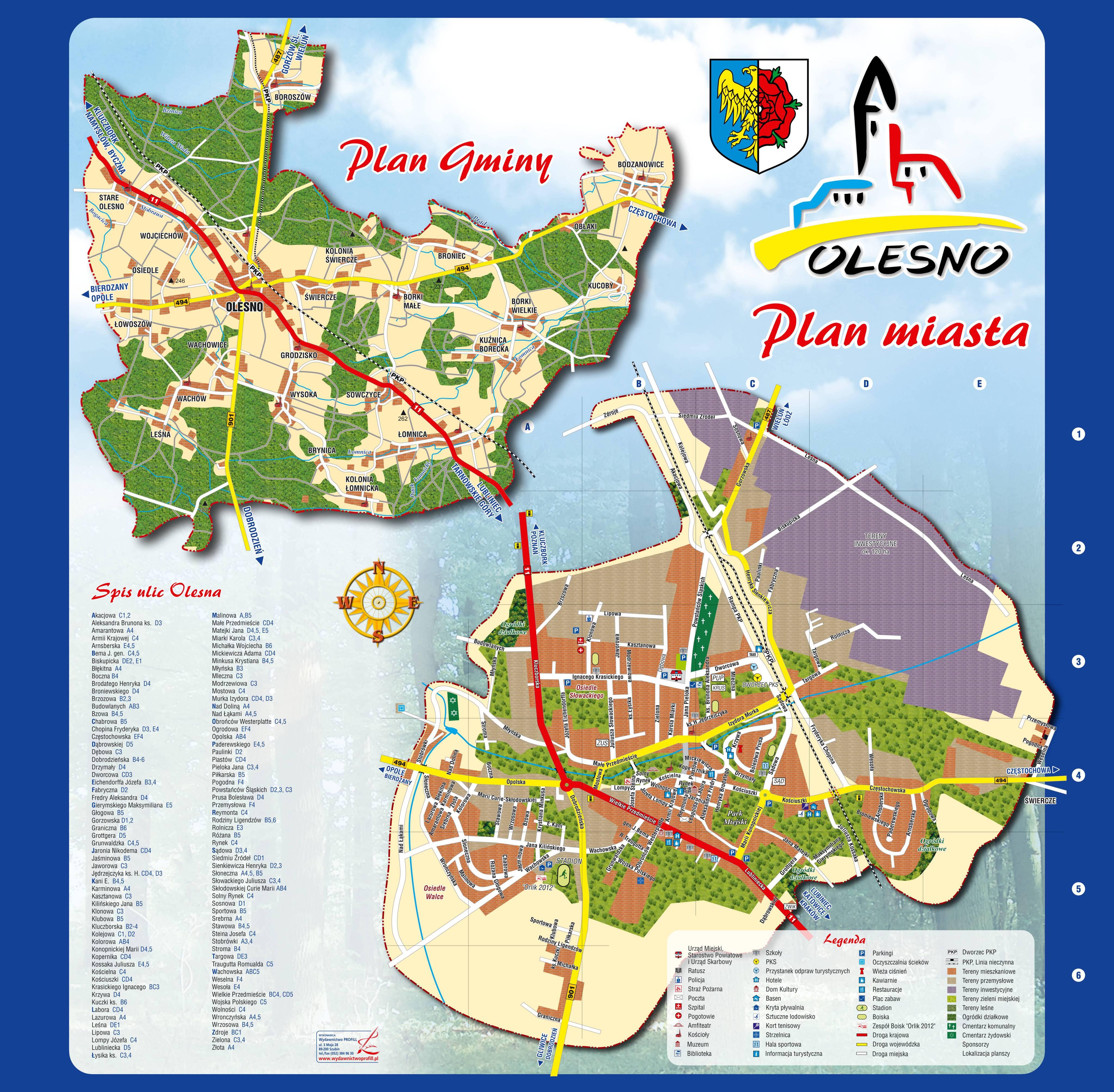Mapa Olesna