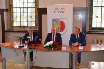 Galeria Konferencja nt. budowy obwodnicy Olesna