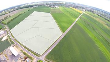 Zdjęcie lotnicze terenu inwestycyjnego